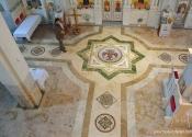 Intarzija, crkvenog poda u Backoj Palanci