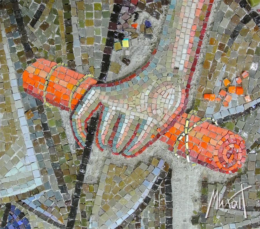 Mosaic art, mosaic of ST. John the Baptist, mozaik za ikonostas, Ruka- Sveti Jovan Krstitelj