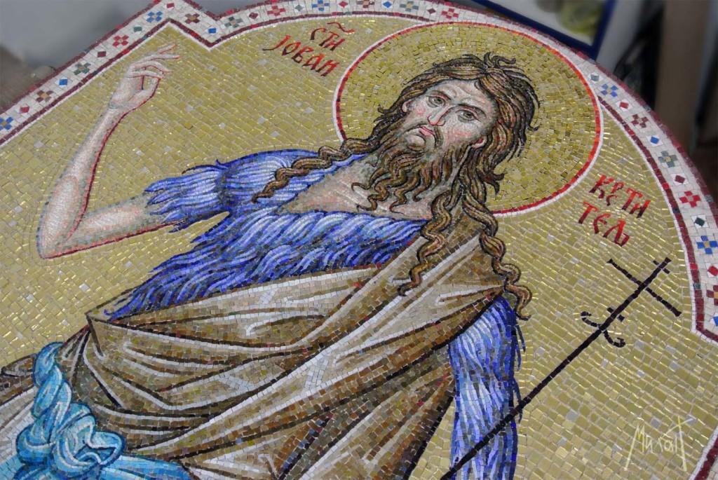 Sveti Jovan Krstitelj, mozaik, мозаик Свети Јован Крститељ, byzantine mosaic