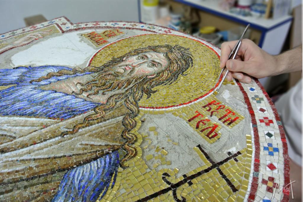 мозаик Свети Јован Крститељ, Sveti Jovan Krstitelj, Mosaic artist Milan Pilipovic, мозаик, mosaic art, byzantine mosaic, St. John the Baptist