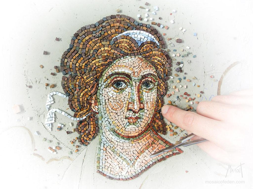 Бели aнђео мозаик